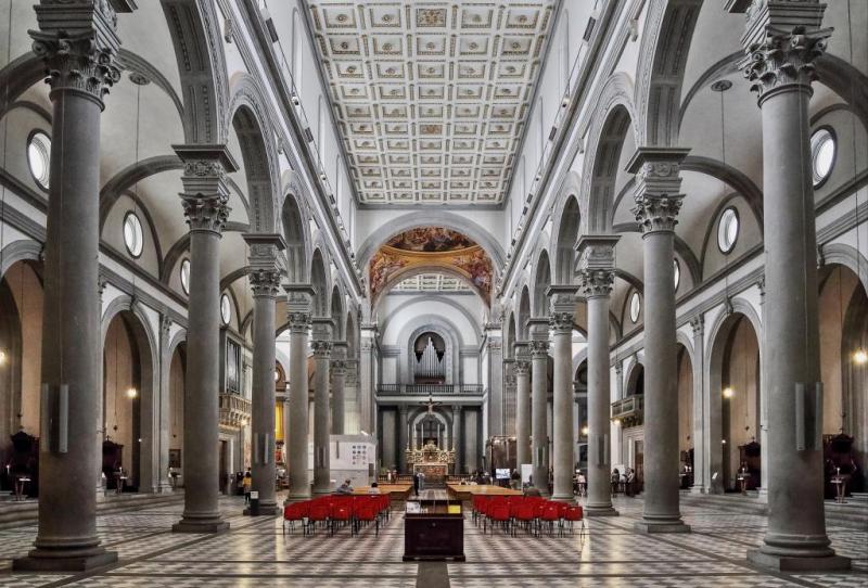 Basilique San Lorenzo à Florence - Renaissance