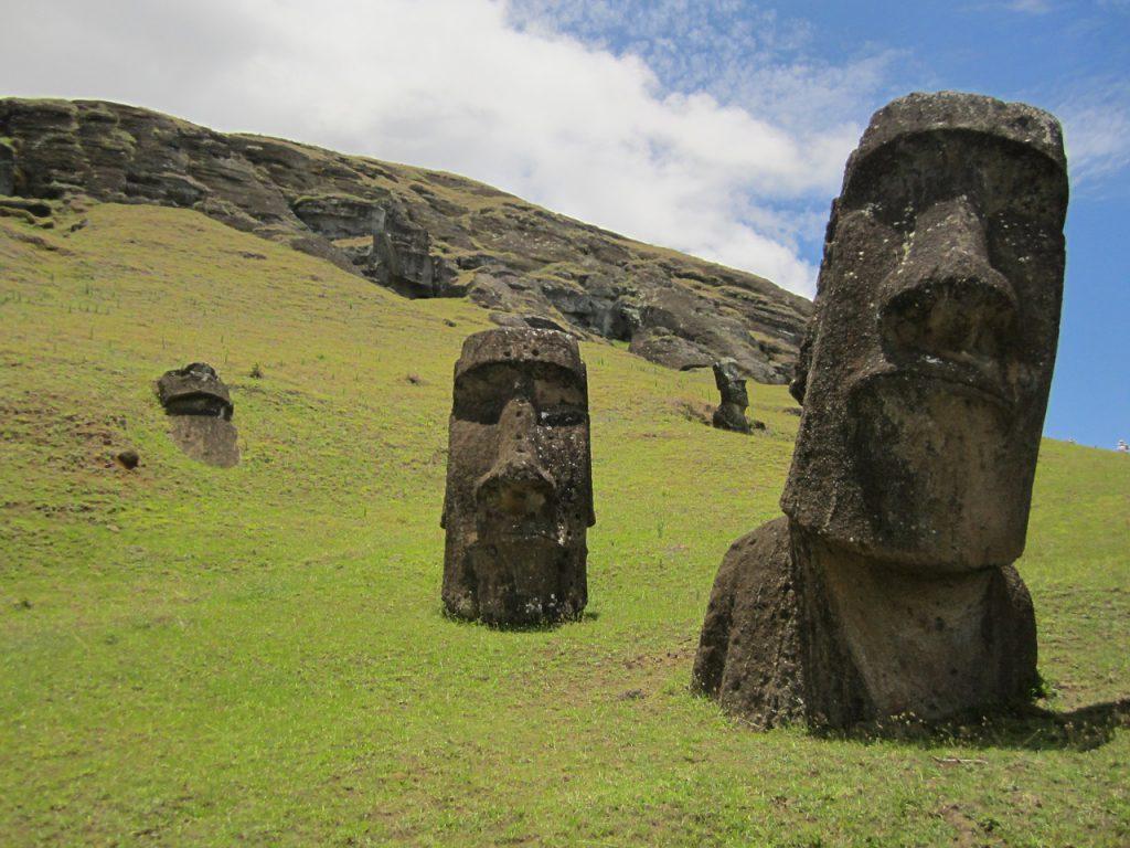 Ile de Pâques - reste d'une civilisation disparue