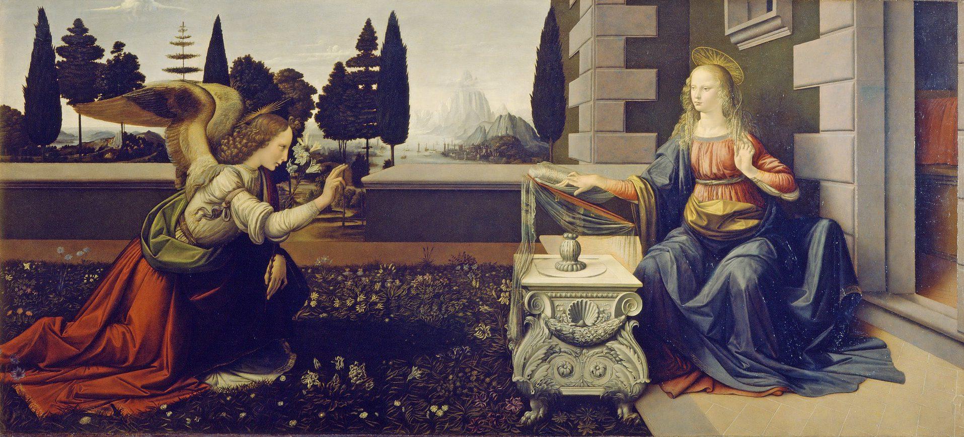 Leonard De Vinci - l'annonciation - Renaissance