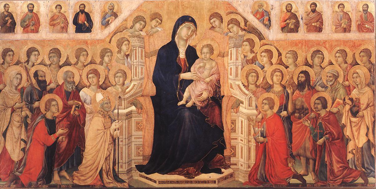 Duccio Maestà - peinture italo-bizantine du Moyen Age