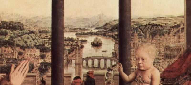 Jan van Eyck - la vierge au chancelier Rolin