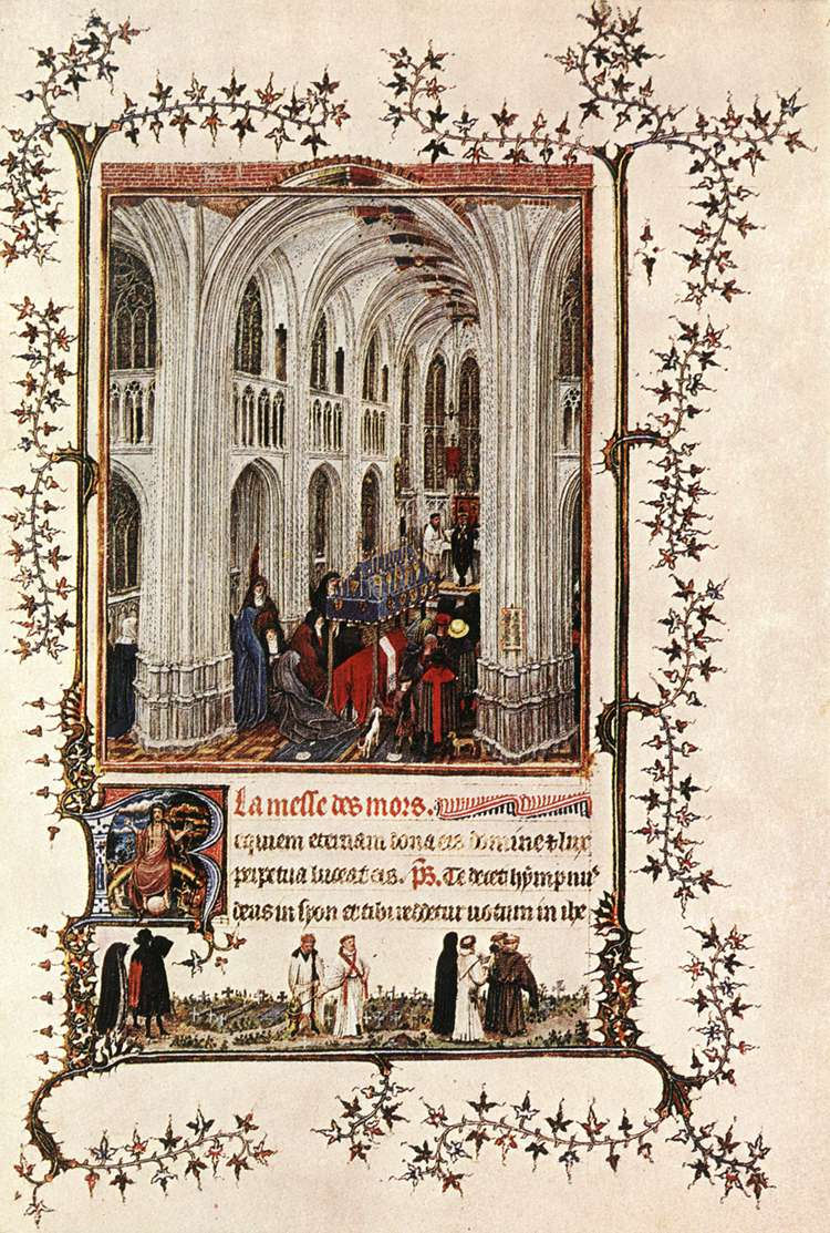 Jan Van Eyck - Livre d'heure de Turin-Milan - La Messe des morts