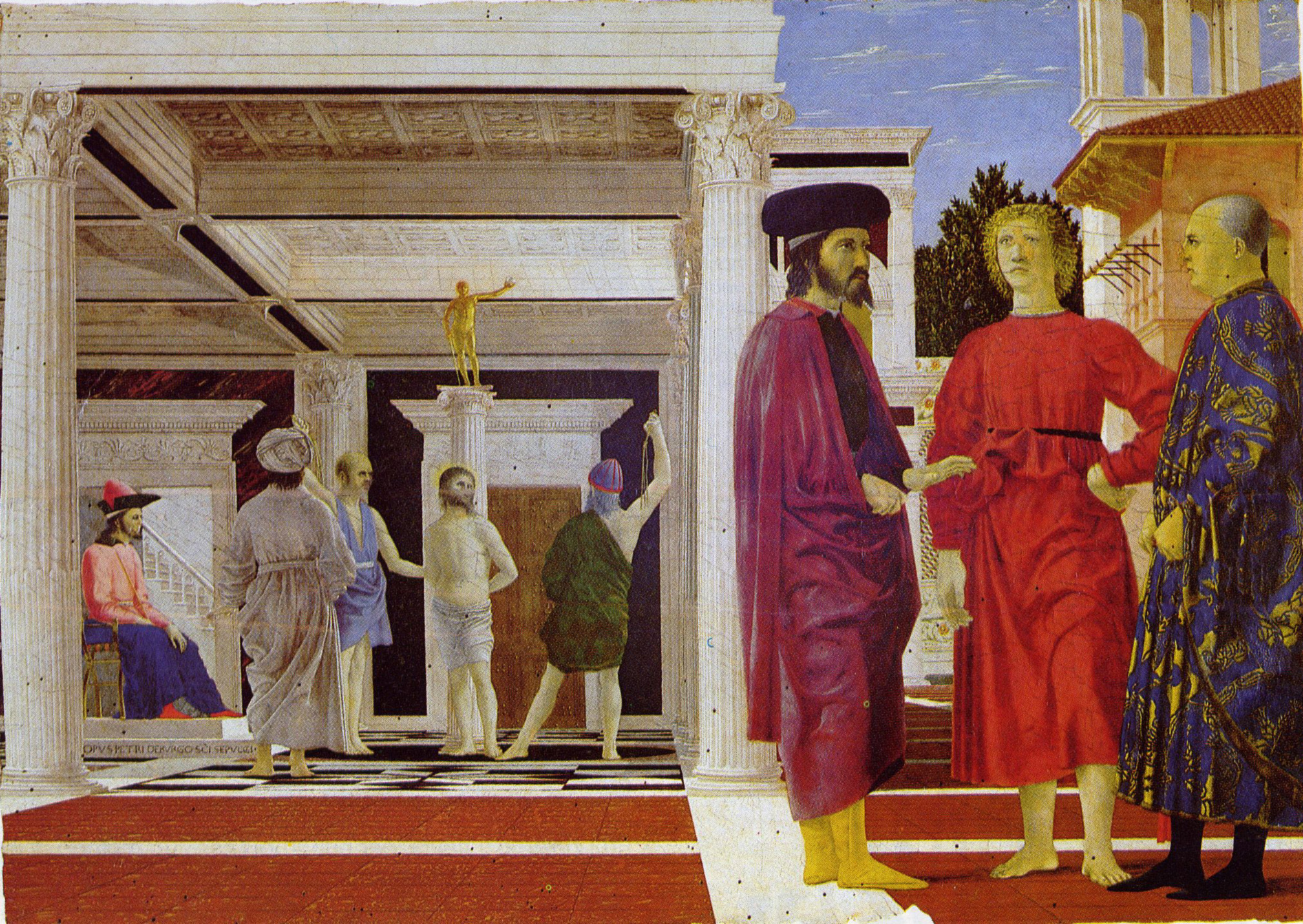 Piero della Francesca - la flagellation du Christ