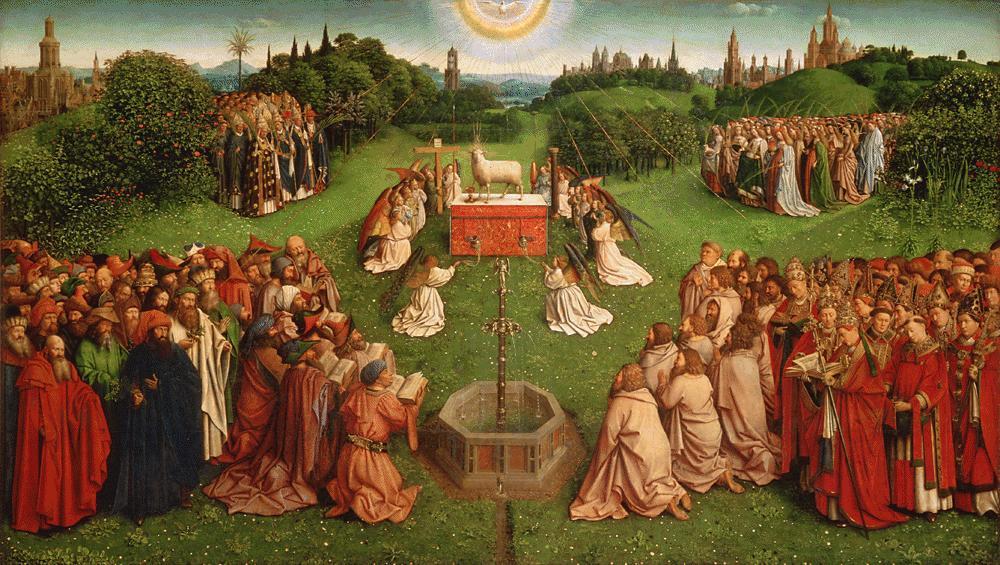 L'Agneau mystique - Hubert et Jan Van Eyck (1424-1432)